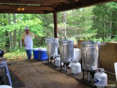 Set up fpr cooking steamers, corn and lobsters
