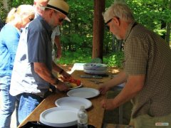 Phil Haskell helping with the clam bake