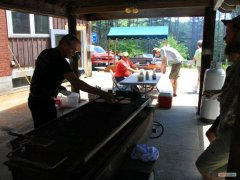 Pres. Skip Maloney on the grill